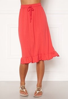 Happy Holly Desiree frill skirt Red Bubbleroom.se