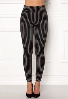 Happy Holly Ditte pin-stripe leggings Black / Striped Bubbleroom.se