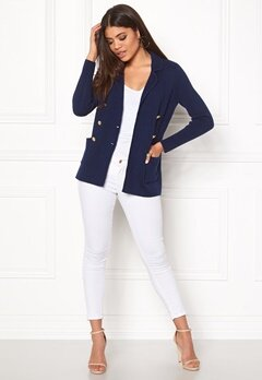 Happy Holly Donna Cardigan Navy Bubbleroom.eu