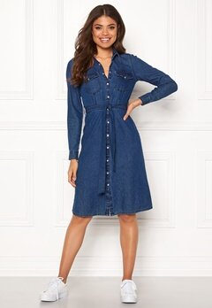 Happy Holly Doris denim dress Dark denim Bubbleroom.se