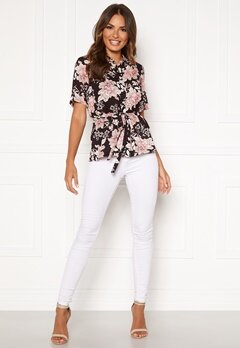Happy Holly Ebba shirt blouse Black / Patterned Bubbleroom.se