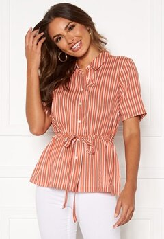 Happy Holly Ebba shirt blouse Coral / Striped Bubbleroom.se