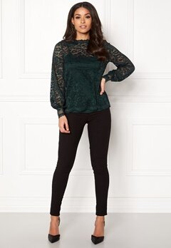 Happy Holly Edda lace top Dark green Bubbleroom.se