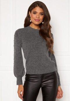 Happy Holly Edith knitted sweater Dark grey / Melange Bubbleroom.se