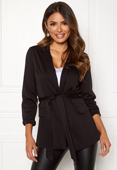 Happy Holly Eleanor tricot blazer Black Bubbleroom.se