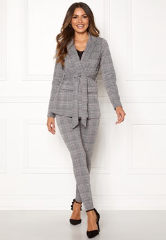 Happy Holly Eleanor tricot blazer Checked Bubbleroom.se