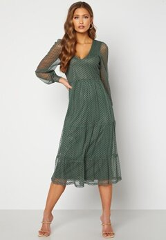 Happy Holly Elin mesh dress Green Bubbleroom.se
