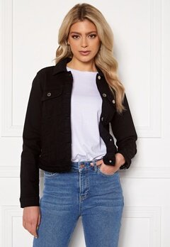 Happy Holly Elina denim jacket Black Bubbleroom.se