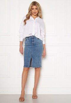 Happy Holly Elina midi denim skirt Medium denim Bubbleroom.se
