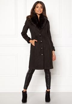 Happy Holly Elisa coat Black Bubbleroom.se