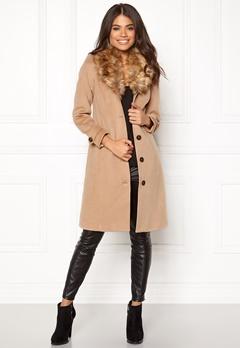 Happy Holly Elisa coat Camel Bubbleroom.se