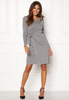 Happy Holly Elizabella knitted dress Grey melange Bubbleroom.se