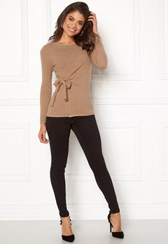 Happy Holly Elizabella sweater Beige melange Bubbleroom.se