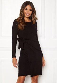 Happy Holly Elizabella knitted dress Black Bubbleroom.se