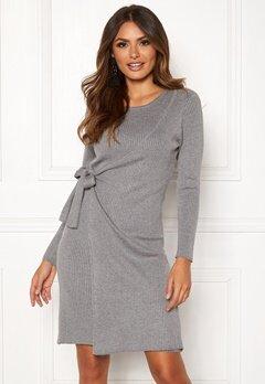 2d5aeb58135a Happy Holly Elizabella knitted dress Grey melange Bubbleroom.se