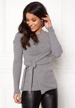 Happy Holly Elizabella sweater Dark grey melange Bubbleroom.se