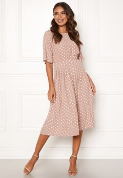Happy Holly Eloise pleated dress Dotted Bubbleroom.se