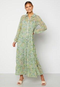 Happy Holly Elsie Maxi Dress  Green / Floral Bubbleroom.se