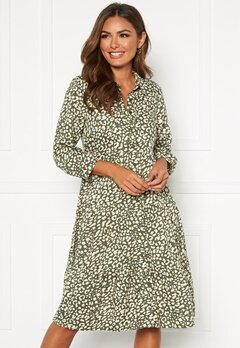 Happy Holly Elsie midi dress Khaki green / Patterned Bubbleroom.se