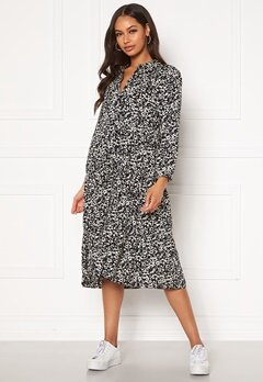Happy Holly Elsie midi dress Light beige / Black Bubbleroom.se