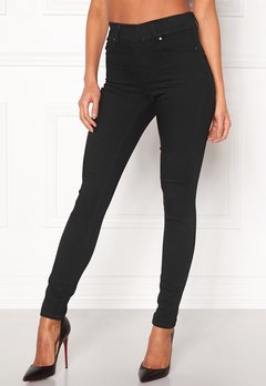 Happy Holly Elwira jeggings Black denim Bubbleroom.se