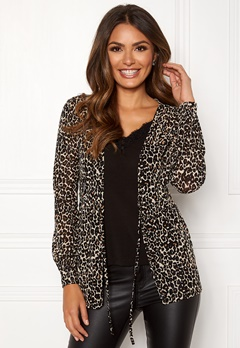Happy Holly Emele mesh top Leopard Bubbleroom.se