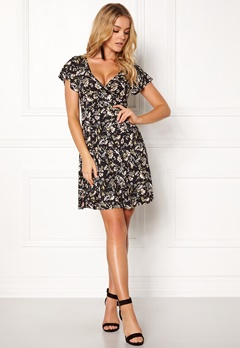 Happy Holly Emilia dress Black / Patterned Bubbleroom.se