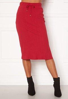 Happy Holly Emilia midi skirt Dark red bubbleroom.se