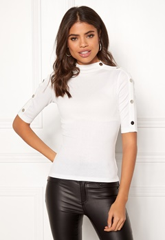 Happy Holly Emily button top Offwhite Bubbleroom.se