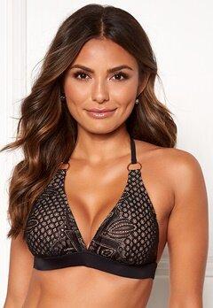 Happy Holly Emma lace bikini bra Black / Beige Bubbleroom.se