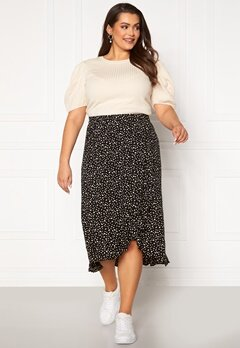 Happy Holly Emma skirt Black / Offwhite Bubbleroom.se
