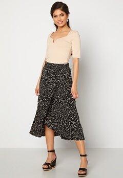 Happy Holly Emma skirt Black / Offwhite bubbleroom.se