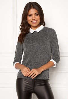 Happy Holly Emmie top Dark grey melange Bubbleroom.se