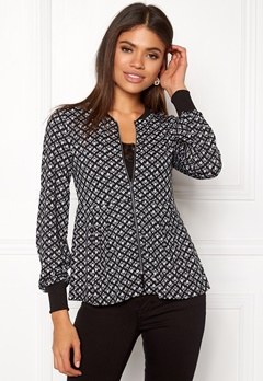 Happy Holly Fannie jacket Black / Offwhite Bubbleroom.se