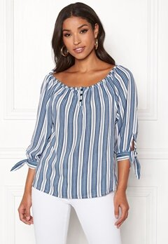 Happy Holly Fanny blouse Striped Bubbleroom.se