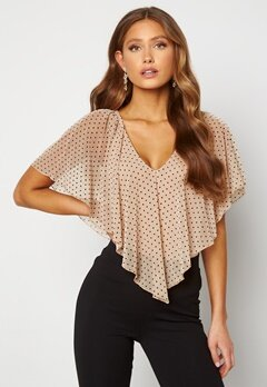 Happy Holly Fanny top Light beige / Dotted Bubbleroom.se