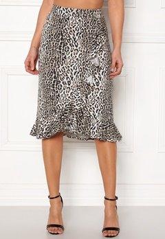 5aad859f421c Happy Holly Farah midi skirt Leopard Bubbleroom.se