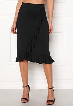 Happy Holly Farah midi skirt Black Bubbleroom.se 8824adc655e66