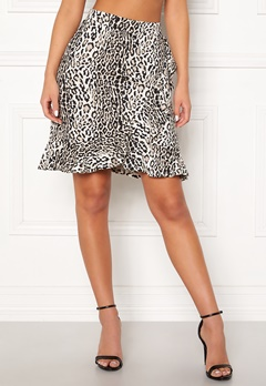 Happy Holly Farah skirt Leopard Bubbleroom.se 5fe0c3caf729e