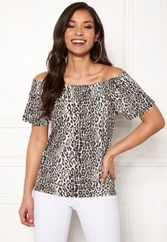 Happy Holly Farah top Leopard Bubbleroom.se