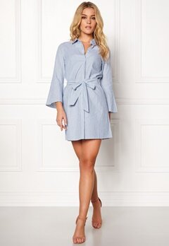 Happy Holly Filippa shirt dress Striped Bubbleroom.se