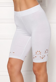 Happy Holly Flora Bike pants White Bubbleroom.se