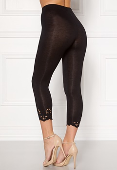 Happy Holly Flora Crop leggings Black Bubbleroom.se