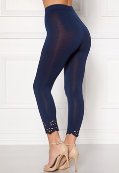 Happy Holly Flora Crop leggings Navy Bubbleroom.se