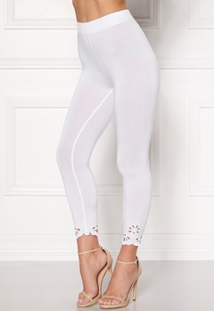 Happy Holly Flora Crop leggings White Bubbleroom.se