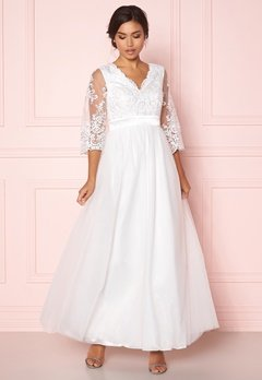 Happy Holly Francesca wedding dress  White Bubbleroom.se
