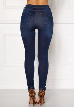 Happy Holly Francis high waist Jeans Mörkdenim Bubbleroom.se