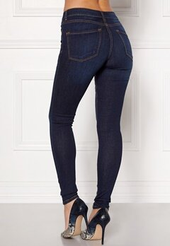 Happy Holly Francis normal waist Jeans Mörkdenim Bubbleroom.se
