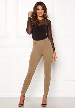 Happy Holly Franny tricot pants Camel Bubbleroom.se