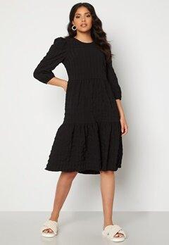 Happy Holly Fredrika flounce dress Black Bubbleroom.se